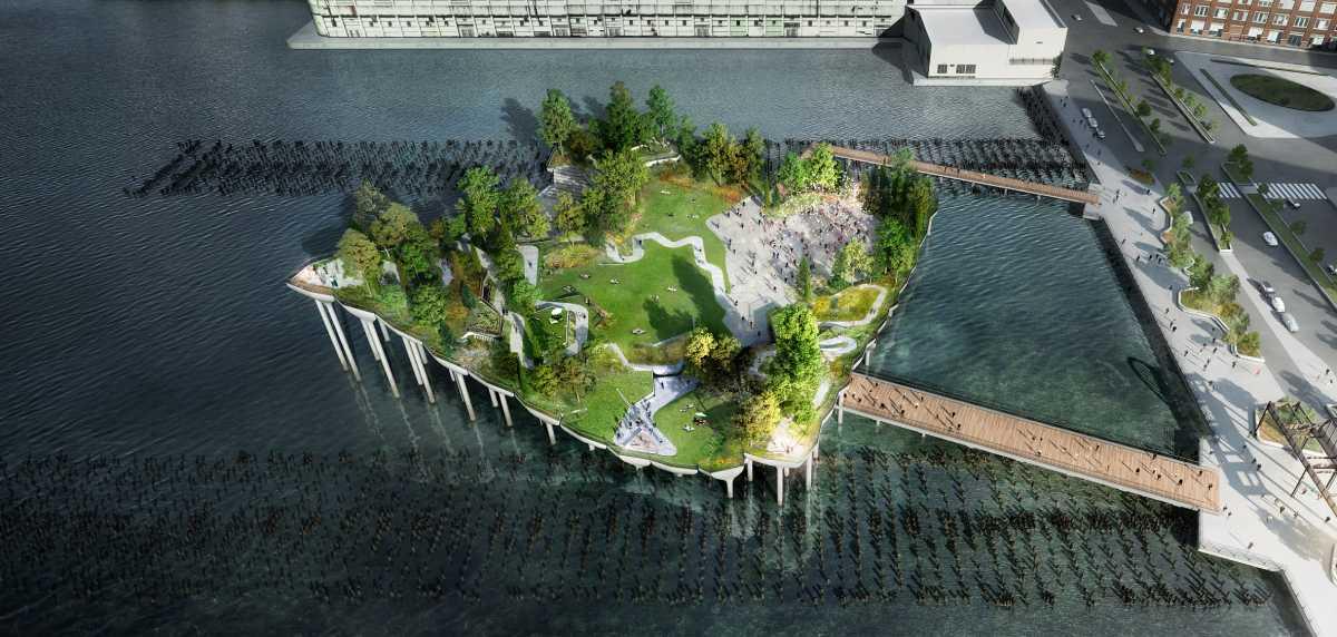 Little Island: Una hoja de hormigón sobre el Río Hudson