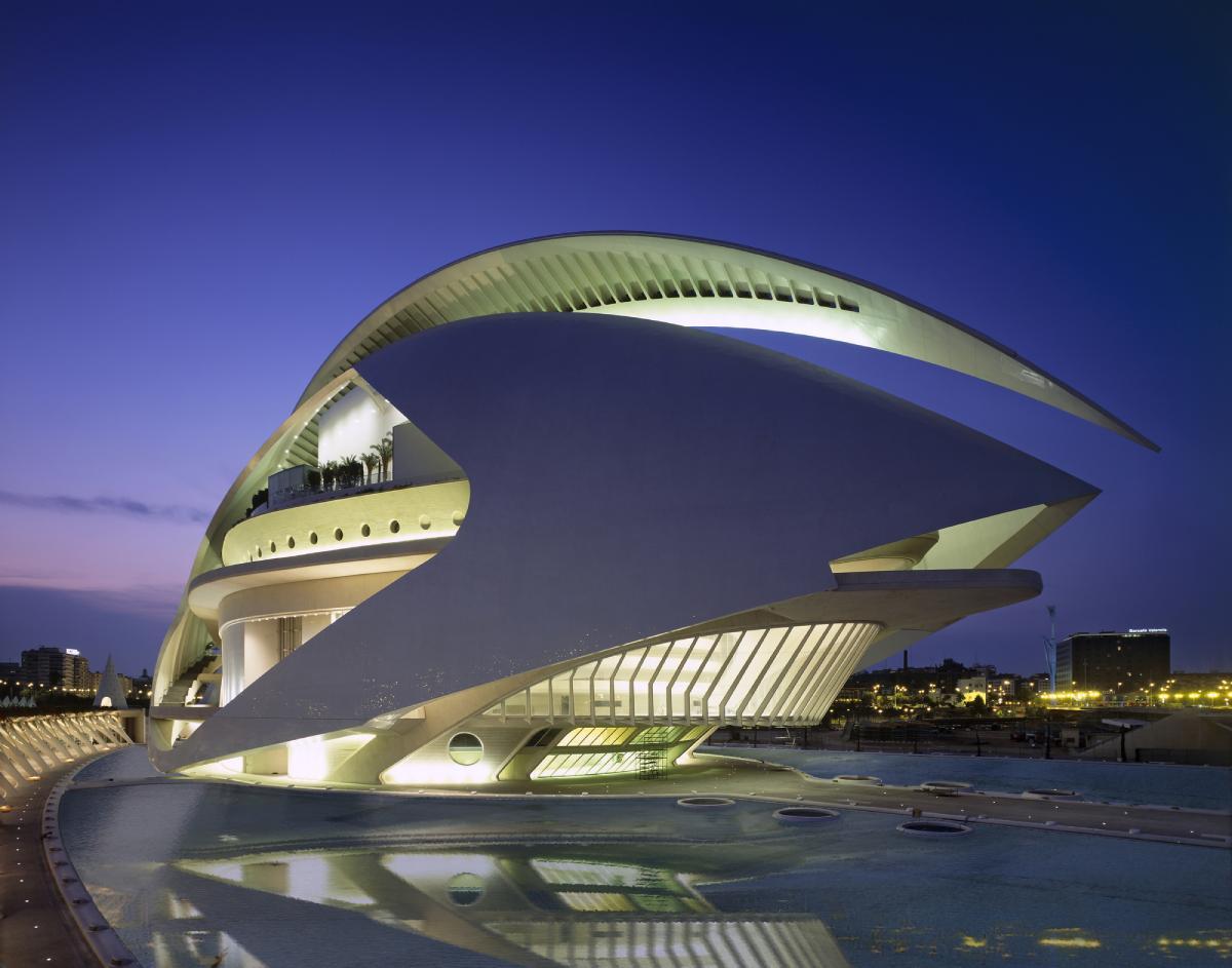 Palau de les Arts Reina Sofía: Un centro de las artes de hormigón blanco