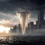 Una torre flotante de hormigón y acero para el siglo XXI en China